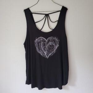 🎀TORRID Heart black tank top